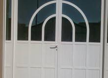 aluminium wood window door and shwar glass kichan