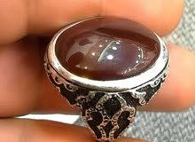 خاتم عقيق يماني كرزي