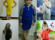 فستان بناتى قطن