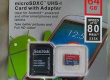 snadisk 64 GB ميموري كارد