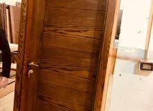 ابواب جديدة للبيع لون جوز خشب مسيف