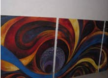 3 لوحات رسم زيتي