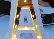 احرف اضاءة من A till z يوجد كميات كبيرة
