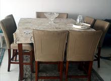 high chaired dinning table + 8 seaters