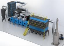 محطة صهر المعادن ومعالجة الدخان (Metal smelting and smoke treatment plant)