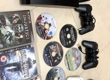 ps3 for sell   with 4 controllers and 6 games