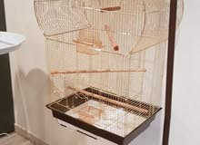 Big Golden Parrot cage with special stand almost new,