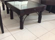 antique small coffee table dark brown like new