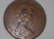 2 new pence elizabeth 1971