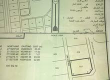 ارضين شبك مخطط 111 مساحة 1309 متر مقابل جامع السلطان قابوس  مطلوب نهاية 24 الف م