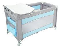 سرير أطفال TEX - رمادي