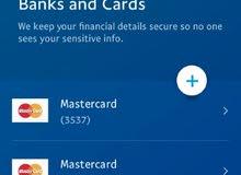 تتوفر لدينة عمل حسابات باي بال و بطاقات كوكل بلي .....