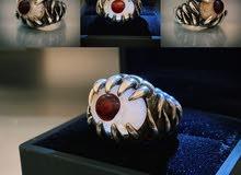 للبيع خاتم عقيق على شكل عين طبيعي 100%