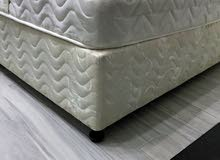 King size bed 150*200, moderately used, without mattress