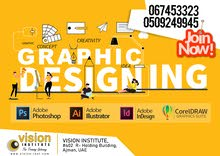Graphic Designing Classes at Vision Institute. Call
