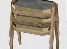طقم طاولات متداخل خشب