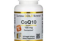 انزيم  كيو 10 (Coenzyme Q10 ) انزيم الطاقه المعجزه من الشركه الذهبيه الامريكيه