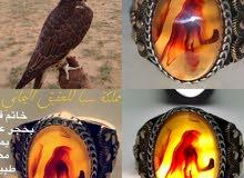 خاتم فضة حجر عقيق يماني مصور