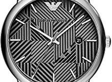 Emporio Armani Men'S Black Dial Stainless Steel Band Watch Ar11134, Quartz, Analog
