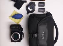 كاميرا سوني a3000 مستعمل نظيييييف جدا مع توابعها