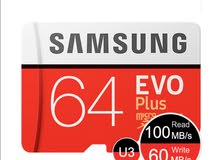 Samsung Micro SD EVO plus card 64gb