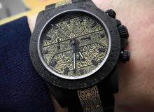 ساعة ماركة رولكس منقوشة بالذهب بستار الكعبة