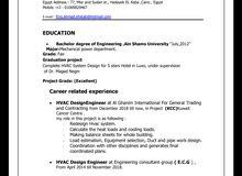 Hvac Design Mechanical Engineer.