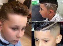 حلاقة الشعر والدقن/ كرياتين /صبغة شعر /استشوار / تحديد دقن /حلاقة