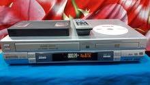 فيديو كاسيت و DVD مشترك بنفس الجهاز ماركة بانسونيك مع الريمونت