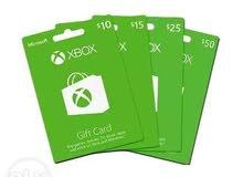 بطاقات اكس بوكس +Xbox Live