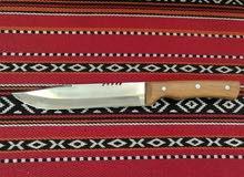 سكين حاده مثل الموس ممتازه لذبح مقبض من خشب العتم صناعه عمانيه ويوجد احجام مختلف