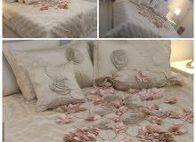 مفرش سرير نفرين للبيع لون سكري