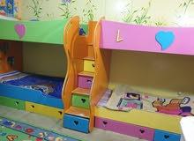 للبيع غرفة اطفال 4 سراير + غرفة جلوس
