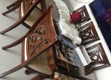 طاولة سفرة خشب ماليزي 8 كراسي