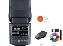 Godox Thinklite Camera Flash TT520II with Build-in 433MHz Wireless for Signal Ca