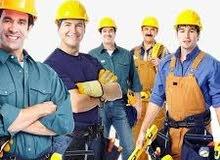 مطلوب كوادر مهنيين ( كهربائيين - نجارين - حدادين  - خلفات صحيات - خلفات مرمر وسيراميك  )