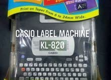 طابعه ملصقات كاسيو casio label printer KL-820