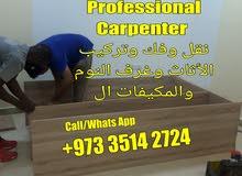 Mover Packer Furniture Installation Furniture Fixing  Professional Carpenter 3514 2724