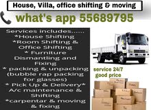 house, villa office shifting and moving call:55689795