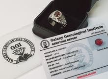 Ruby & Diamond Ring With Certificate  خاتم الماس والياقوت مع شهادة