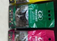 رمل قطط طبيعي 100%