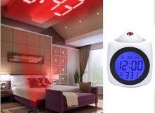 متعدد الوظائف الرقمية LCD جدار الإسقاط الصوت الحديث درجة الحرارة شاشة LED المنبه