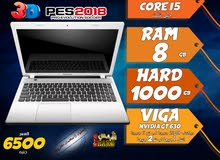 laptop lenovo core i5 ram 8 hdd 1000 viga nvidia + intel  لالعاب 2018 وبرامج الجرافيك