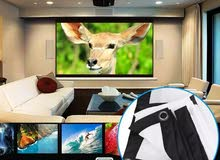 Screen Projector New 150 and 120 inch