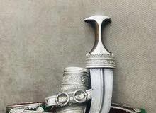 خنجر راس زراف هندي جميل والنصلة جديمي