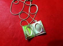 سنسال فضة عيار 925 مع تعليقة صورتين جديد للبيع 925 Silver Necklace Pendant