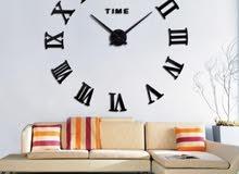 ساعة حائط ساعة كبيره استكر ديكور