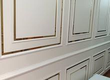 ديكورات ودهانات وورق جدران باركيه براويز فوم براويز استيل ذهبيه للتصميم جميع انو