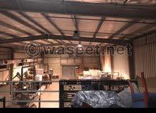 لايجار مخزن 850 متر مرخص مطافي يصلح جميع الأنشطة التخزينية صبحان