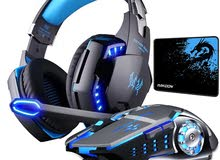 KOTION EACH Gaming Headset Deep Bass Stereo Game Headphone with Microphone LED L